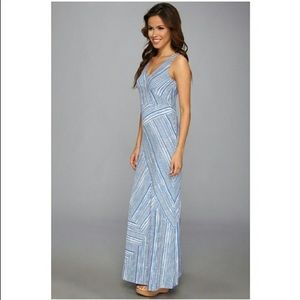 Tommy Bahama Blue and White Striped Maxi Dress